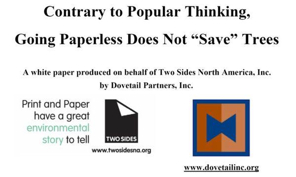 Two Sides e Dovetail Parterns lanciano un nuovo studio che dimostra che gli inviti a non usare la carta non salvano gli alberi