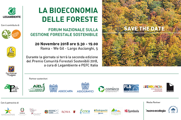La bioeconomia delle foreste – Forum nazionale sulla gestione forestale sostenibile – Roma, 20 novembre