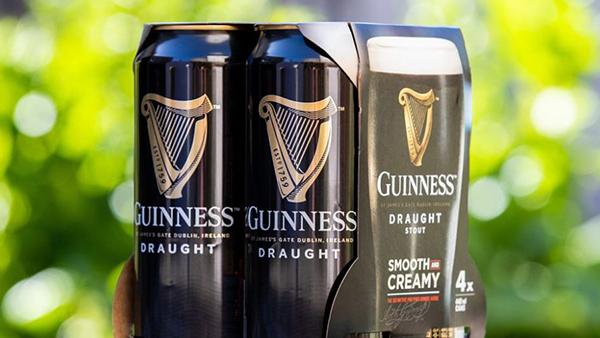Guinness, nel 2020, lancerà il nuovo pack multilattina completamente riciclabile!