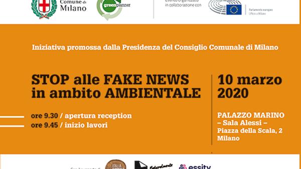 "Milano, 10 marzo 2020 Two Sides al convegno ""STOP alle FAKE NEWS in ambito AMBIENTALE"""