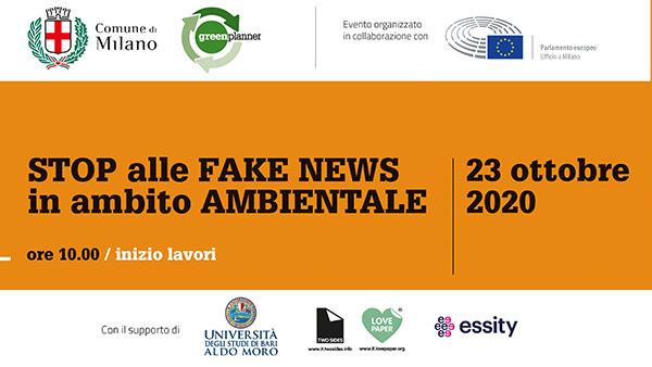 "Milano, 23 ottobre 2020 Two Sides al convegno ""STOP alle FAKE NEWS in ambito AMBIENTALE"""
