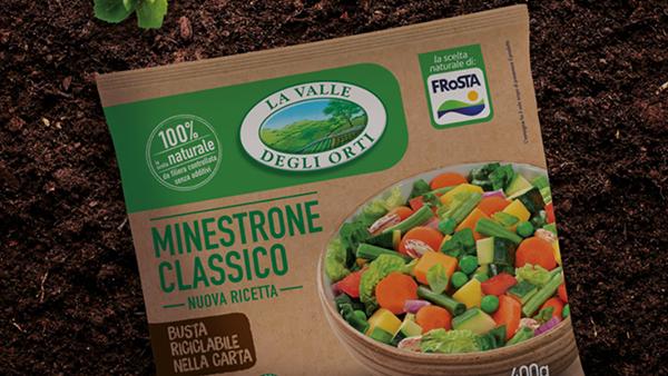 Un packaging sostenibile in carta che va direttamente nel freezer