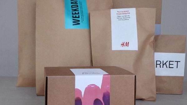 H&M utilizza imballaggi di carta