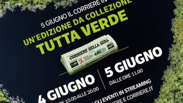 Il Corriere della Sera è su carta verde per celebrare la Giornata dell'ambiente